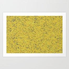 Dots Ochre Art Print