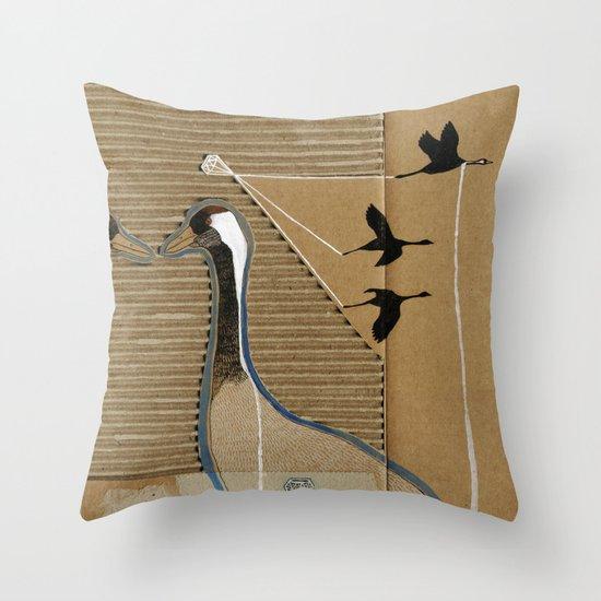 turnalar (cranes) Throw Pillow