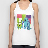 monster inc Tank Tops featuring Monster Time by Moysche Designs