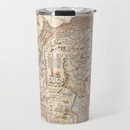 Antique Map of South America Travel Mug