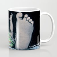 feet Mugs featuring Feet by Kristy Holding