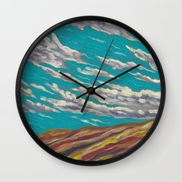 OLD TIMEY CLOUDSCAPE Wall Clock