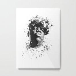Notorious B.I.G splatter painting Metal Print