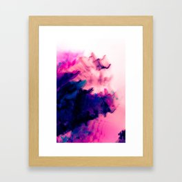 Secrets and Confusion Blurry Abstract Framed Art Print
