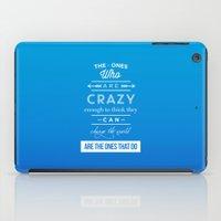 steve jobs iPad Cases featuring Steve Jobs by Hanna