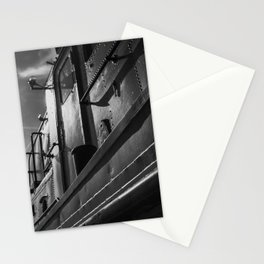 Reflection on old boat - Travel and street photography in Antwerp - Photo print from Belgium Stationery Cards