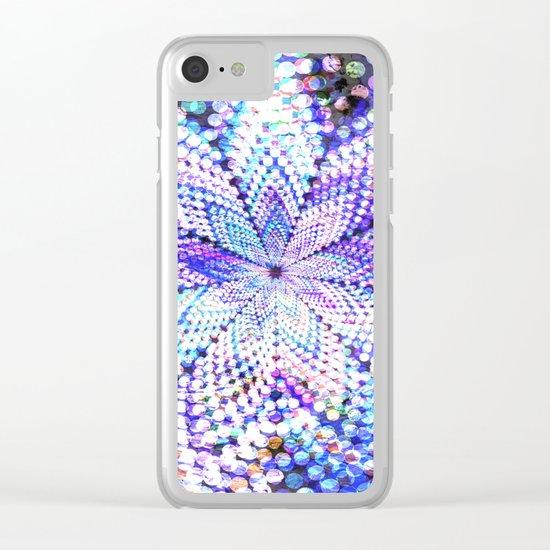 Flower Energy Bokeh Lights Clear iPhone Case