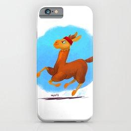 running llama iPhone Case
