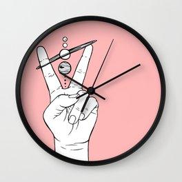 Peace Across the Solar System Wall Clock