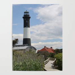 Walkway To Fire Island Lighthouse Poster