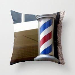 Barber Sign Throw Pillow
