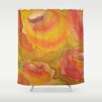 blush Shower Curtains featuring Blush by Lisa Kubik