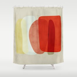 shapes modern abstract Shower Curtain