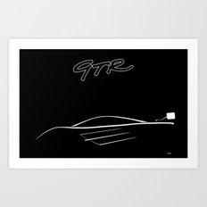 McLaren GTR Graphic Art Print