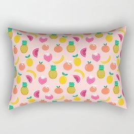 Fruit summer spring pattern print tropical island pineapple cherry strawberry banana fresh hot  Rectangular Pillow