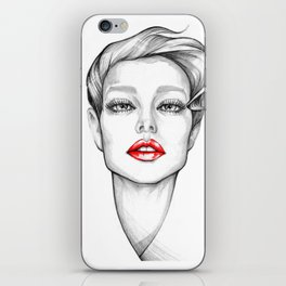 Red Lips iPhone Skin