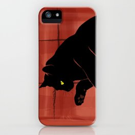 Olivia, the cat on the porch iPhone Case