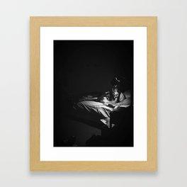 emerson reads Framed Art Print