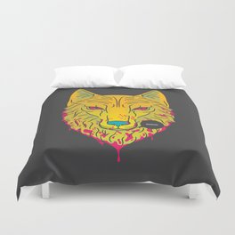 The Unbridled Anger of a Decapitated Direwolf Duvet Cover