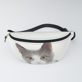 Cat with Yellow Eyes Fanny Pack