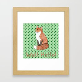 Mr Fox Framed Art Print