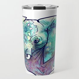 Pastel Abstract Elephant Travel Mug