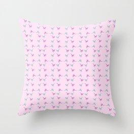 confetti velociraptors Throw Pillow