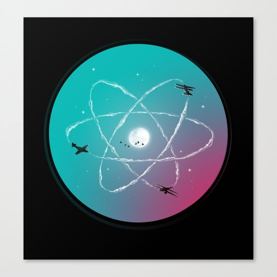 Atomic Formation Canvas Print