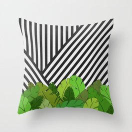 Green Direction Throw Pillow