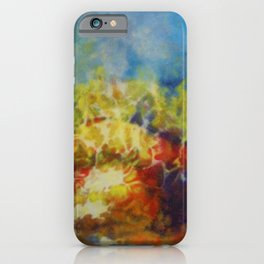 African American Masterpiece 'Hymns to the Sun IV' by Aubrey H. Williams iPhone Case
