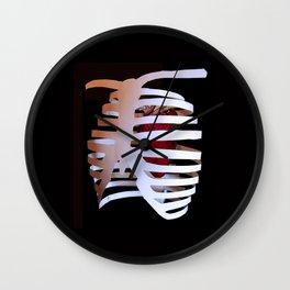 Ribcaged Heart Wall Clock