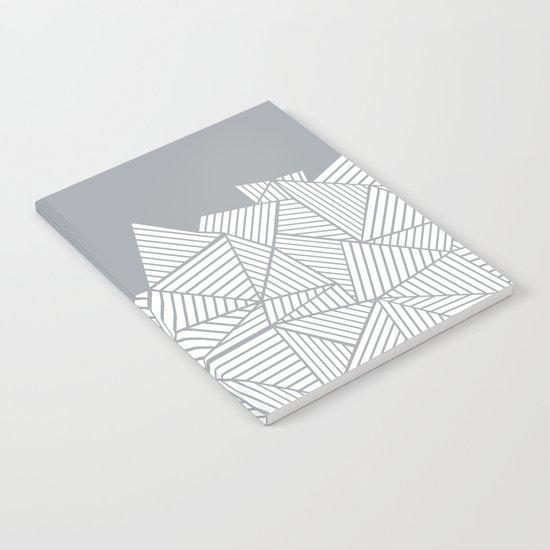 Abstract Mountain Grey Notebook