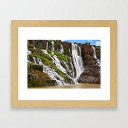 The Pongour waterfall, Dalat, Vietnam Framed Art Print