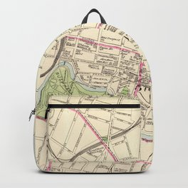 Vintage Map of Hartford Connecticut (1893) Backpack