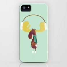 This moose is ready for winter iPhone (5, 5s) Slim Case