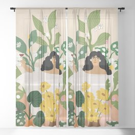 Self Care Sheer Curtain