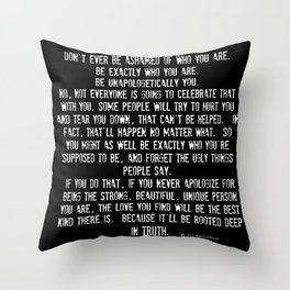 Be Yourself Quotes Throw Pillow