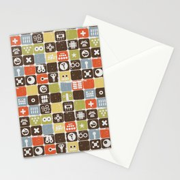 Robot face. Stationery Cards
