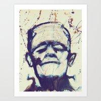 The Monster Lives Art Print