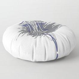 Pintstriping Blu and grey deco wall Floor Pillow