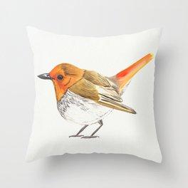 Little Watercolour Robin Throw Pillow