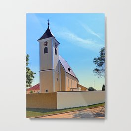 The village church of Sankt Stefan IV | architectural photography Metal Print