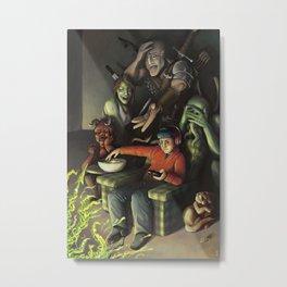 Abstract Terror Metal Print