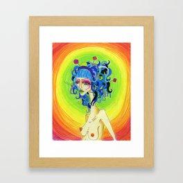 Medusa Has a Candy Coating Framed Art Print