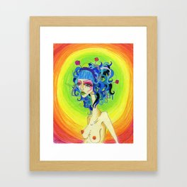 Medusa Has a Candy Coating Framed Art Print