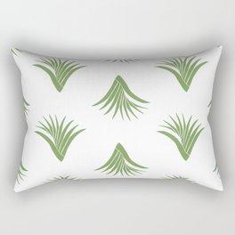 Pandanus Leaf Pattern - Green Rectangular Pillow