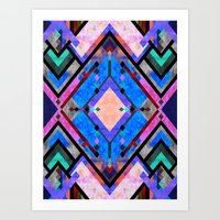 tarot Art Prints featuring Tarot 1A by Schatzi Brown