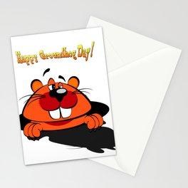 Happy Groundhog Day Stationery Cards