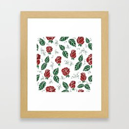 Background with roses Framed Art Print