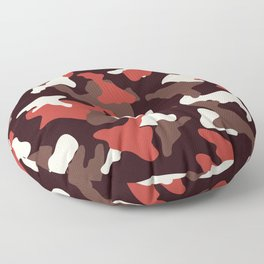 Red camo camouflage army pattern Floor Pillow